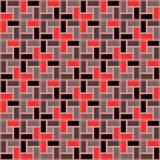 Sömlös modell för röd rosa textur för tegelstenspiraltegelplatta medurs Royaltyfri Illustrationer