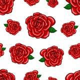 Sömlös modell för röda rosor Arkivbild