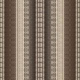 Sömlös modell för randig guld- vektor för grek 3d Geometriskt ytbehandla texturerad bakgrund Upprepa den dekorativa abstrakta des royaltyfri illustrationer