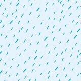Sömlös modell för regndroppevektor Handdrawn Royaltyfri Illustrationer