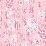 Sömlös modell för rosa färgförälskelseklotter Royaltyfria Foton