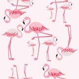 Sömlös modell för rosa flamingo Royaltyfri Fotografi