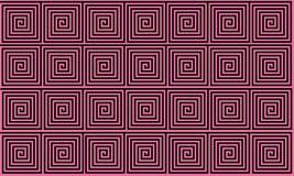 Sömlös modell för rosa och svart gammalgrekiskaslingringar, alltför förenklad svart historisk bakgrund Sömlös geometrisk optisk i royaltyfri illustrationer