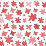 Sömlös modell för rosa röda blommor Royaltyfri Foto