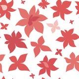 Sömlös modell för rosa röda blommor Fotografering för Bildbyråer
