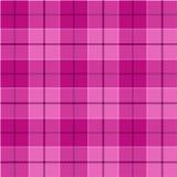 Sömlös modell för rosa tartan Fotografering för Bildbyråer