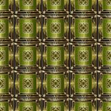 Sömlös modell för rutig dekorativ geometrisk vektor för grek 3d modern abstrakt bakgrund Grekisk nyckel- prydnad med forntida royaltyfri illustrationer