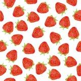 Sömlös modell för saftig jordgubbecloseup Royaltyfri Bild