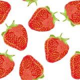 Sömlös modell för saftig jordgubbecloseup Royaltyfri Foto