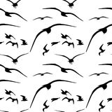 Sömlös modell för Seagull vektor Stock Illustrationer