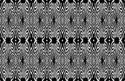 Sömlös modell för sebra Sebrahuvud svart white royaltyfri bild