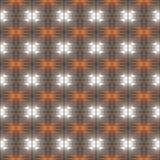 Sömlös modell för silvriga metalliska präglade fyrkanter Fotografering för Bildbyråer