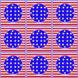 Sömlös modell för självständighetsdagen Vektor Illustrationer