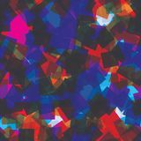Sömlös modell för slumpmässiga fyrkanter abstrakt bakgrund Fyrkanter som läggas över på de geometriskt Trycktyg, kläder, stock illustrationer