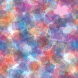 Sömlös modell för slumpmässiga genomskinliga fyrkanter abstrakt bakgrund Fyrkanter som läggas över på de geometriskt Trycktyg, royaltyfri illustrationer
