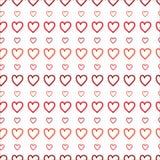 Sömlös modell för små och stora hjärtor royaltyfri illustrationer