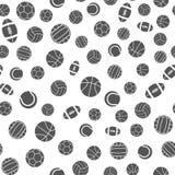Sömlös modell för sportbollvektor royaltyfri illustrationer