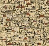 Sömlös modell för stad med byggnader Arkivbilder