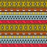 Sömlös modell för stam- konstboho Etniskt geometriskt tryck Arkivfoton