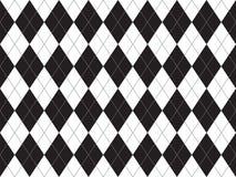 Sömlös modell för svart vit argyle Royaltyfria Bilder
