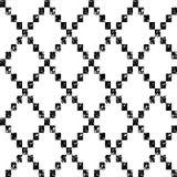 Sömlös modell för svartvit åldrig geometrisk rombformgrunge, vektor Arkivfoton