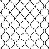 Sömlös modell för svartvit arabisk traditionell quatrefoil, vektor Arkivbilder