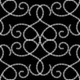 Sömlös modell för svartvit dekorativ grekisk vektor Virvlar grekiska nyckel- slingringarformer runt, linjer, blommor Monokrom ara royaltyfri illustrationer