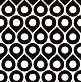 Sömlös modell för svartvit vektor med små droppar Arkivbild