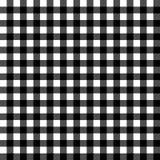 Sömlös modell för svartvitt tyg för gingham traditionellt, vektor stock illustrationer