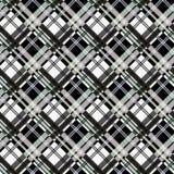 Sömlös modell för tartanpläd i svart vit royaltyfri illustrationer