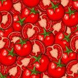 Sömlös modell för tomat Arkivbilder