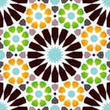 Sömlös modell för traditionell arabisk designtegelplatta Arkivfoton