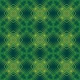 Sömlös modell för tryck Mandala Flowers med grön bakgrund Arkivbilder