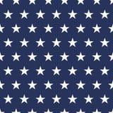Sömlös modell för USA flagga Vita stjärnor på en blå bakgrund isolerad minnes- white för affischtavla dag royaltyfri illustrationer