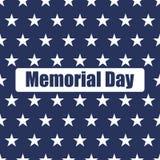 Sömlös modell för USA flagga Vita stjärnor på en blå bakgrund isolerad minnes- white för affischtavla dag stock illustrationer