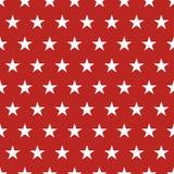 Sömlös modell för USA flagga Vita stjärnor på en röd bakgrund isolerad minnes- white för affischtavla dag stock illustrationer