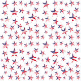 Sömlös modell för USA flaggastjärnor Det kan vara nödvändigt för kapacitet av designarbete stock illustrationer
