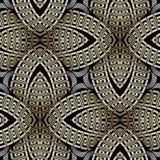 Sömlös modell för utsmyckad guld- vektor för grek 3d Modern geometrisk dekorativ bakgrund Upprepa dekorativ abstrakt bakgrund stock illustrationer