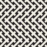 Sömlös modell för väv Stilfull upprepande textur Svartvit geometrisk vektorillustration royaltyfri illustrationer