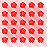 Sömlös modell för vår med röda blommor Royaltyfri Fotografi