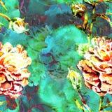 Sömlös modell för vattenfärg Royaltyfri Bild