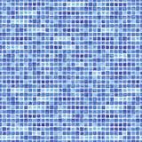 Sömlös modell för vattenfärg med blå rektangel Royaltyfria Bilder