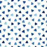 Sömlös modell för vattenfärg med trianglar stock illustrationer