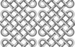 Sömlös modell för vektor av flätad kabel Royaltyfri Bild