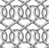 Sömlös modell för vektor av flätad kabel Royaltyfri Fotografi