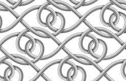 Sömlös modell för vektor av flätad kabel Royaltyfri Foto