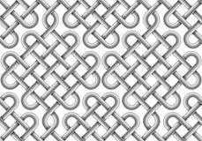Sömlös modell för vektor av flätad kabel Fotografering för Bildbyråer