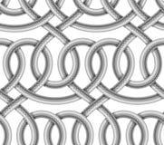 Sömlös modell för vektor av flätad kabel Arkivfoton