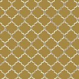 Sömlös modell för vektor av gult mozaic Marockansk-inspirerade tegelplattor stock illustrationer