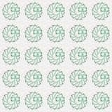 Sömlös modell för vektor av pengar i idérik öglascirkelstil stock illustrationer